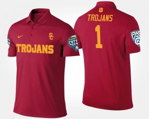 #1 Bowl Game No.1 Pac-12 Conference Cotton Bowl For Men's College Polo Cardinal Trojans