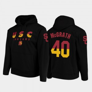 Chase McGrath College Hoodie Wedge Performance Football Pullover Black #40 Trojans Mens