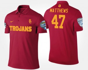 Cardinal Pac-12 Conference Cotton Bowl Clay Matthews College Polo Mens USC #47 Bowl Game