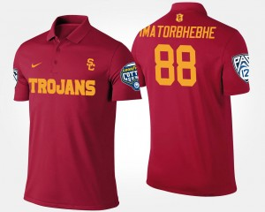 Bowl Game Cardinal Pac-12 Conference Cotton Bowl #88 Daniel Imatorbhebhe College Polo For Men USC
