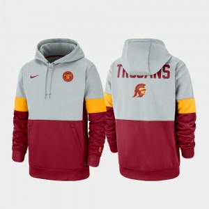College Hoodie Gray Cardinal USC For Men's Therma Performance Pullover Rivalry