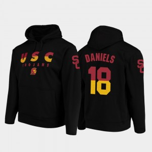 Football Pullover Black USC JT Daniels College Hoodie For Men Wedge Performance #18