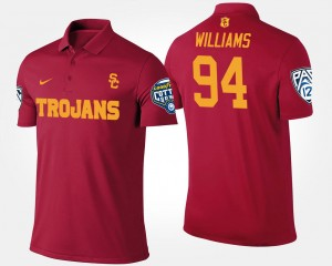 Leonard Williams College Polo Pac-12 Conference Cotton Bowl #94 Bowl Game For Men's USC Cardinal