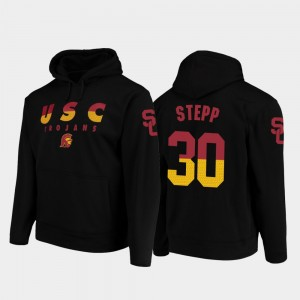 For Men's USC #30 Black Markese Stepp College Hoodie Wedge Performance Football Pullover