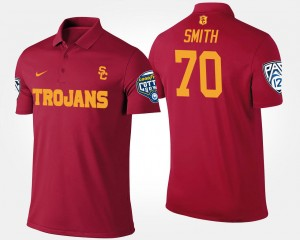Bowl Game Pac-12 Conference Cotton Bowl Trojans Tyron Smith College Polo For Men's #70 Cardinal