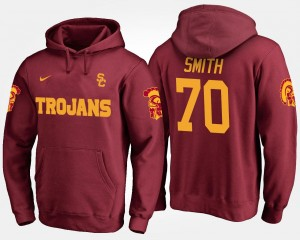 Cardinal Tyron Smith College Hoodie #70 USC Trojans For Men's