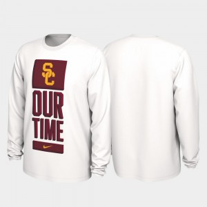 College T-Shirt 2020 March Madness Our Time Bench Legend White USC Mens