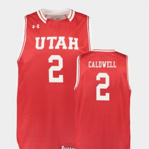 Utes Replica #2 Red Kolbe Caldwell College Jersey Mens Basketball