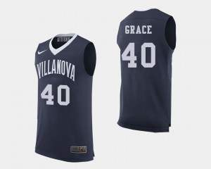 Basketball Denny Grace College Jersey Navy #40 Mens Wildcats
