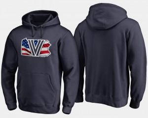 College Hoodie For Men Navy Banner State Nova Big & Tall