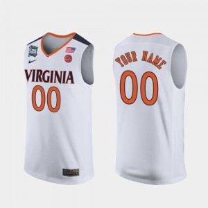 College Customized Jerseys Cavalier White 2019 Final-Four #00 For Men's