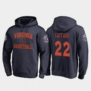 For Men Cavaliers Navy Francisco Caffaro College Hoodie #22 Basketball In Bounds