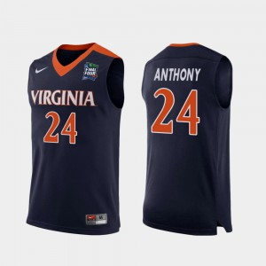 2019 Final-Four Navy Replica #24 Marco Anthony College Jersey Men's Virginia