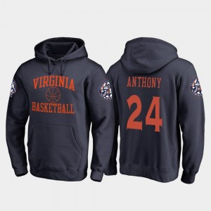 In Bounds Marco Anthony College Hoodie Navy #24 Basketball Mens Cavaliers