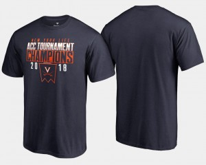 Basketball Conference Tournament College T-Shirt Virginia For Men 2018 ACC Champions Navy