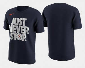 College T-Shirt March Madness Selection Sunday University of Virginia For Men's Navy Basketball Tournament Just Never Stop