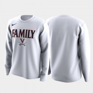 For Men's Cavaliers College T-Shirt Family on Court White March Madness Legend Basketball Long Sleeve