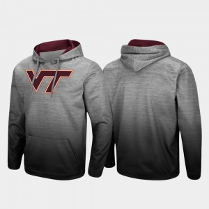 For Men Sitwell Sublimated Heathered Gray Pullover College Hoodie VA Tech