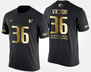 Gold Limited #36 Azeem Victor College T-Shirt Men Short Sleeve With Message UW Black