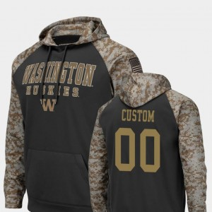UW Colosseum Football College Custom Hoodie United We Stand Charcoal #00 For Men