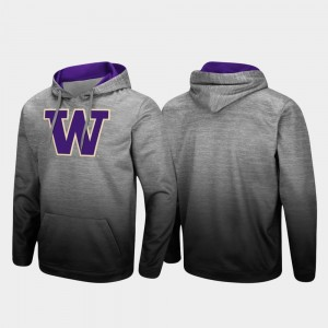 Sitwell Sublimated Pullover Washington College Hoodie Men's Heathered Gray
