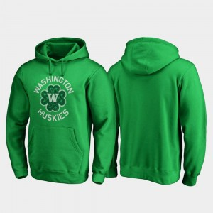 Luck Tradition St. Patrick's Day For Men College Hoodie Kelly Green Washington Huskies