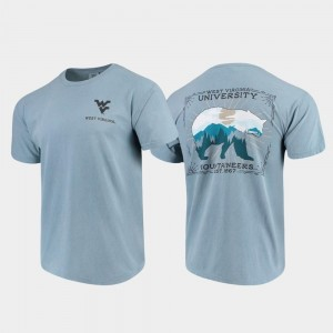 For Men's West Virginia State Scenery Comfort Colors College T-Shirt Blue