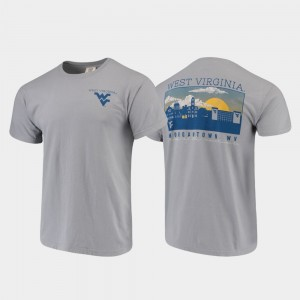 Comfort Colors West Virginia Mountaineers Campus Scenery Gray Mens College T-Shirt