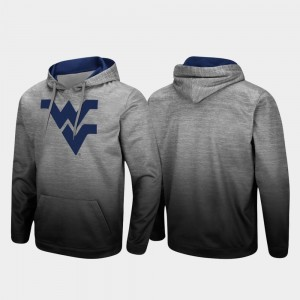 Heathered Gray For Men West Virginia College Hoodie Pullover Sitwell Sublimated