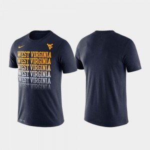 Fade For Men Performance Mountaineers Navy College T-Shirt