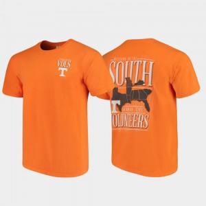 West Virginia Welcome to the South College T-Shirt Tennessee Orange Men's Comfort Colors