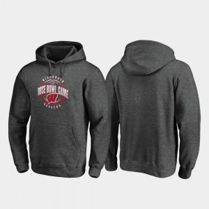 2020 Rose Bowl Bound Scrimmage Badgers Heather Gray College Hoodie For Men