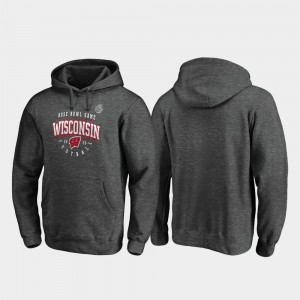 Heather Gray For Men 2020 Rose Bowl Bound Badgers Tackle College Hoodie