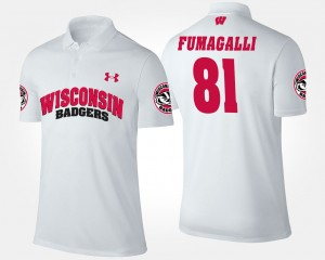 Troy Fumagalli College Polo White University of Wisconsin For Men #81