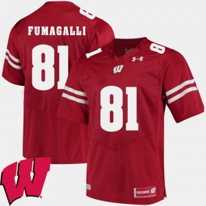 #81 Alumni Football Game Troy Fumagalli College Jersey Red 2018 NCAA Mens Wisconsin Badger