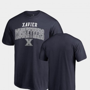 Navy Square Up Xavier Mens College T-Shirt