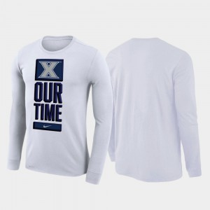 White For Men's Our Time Bench Legend 2020 March Madness College T-Shirt Xavier Musketeers