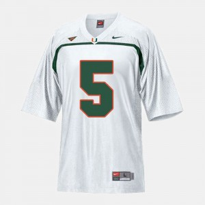 Andre Johnson College Jersey Football Youth White #5 Miami