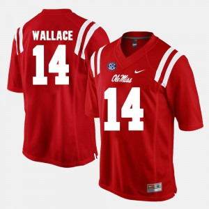 #14 Mike Wallace College Jersey Ole Miss Red Alumni Football Game For Men