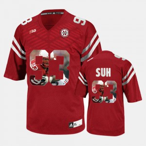 Player Pictorial Ndamukong Suh College Jersey Mens Red Cornhuskers #93