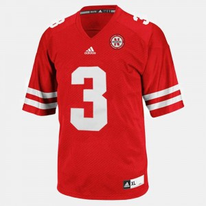 Taylor Martinez College Jersey #3 Men Red Cornhuskers Football