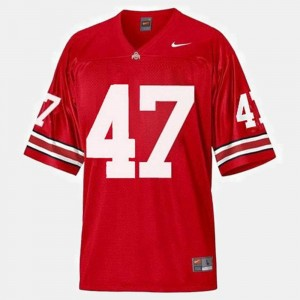 Football Red Ohio State Buckeye A.J. Hawk College Jersey For Men's #47