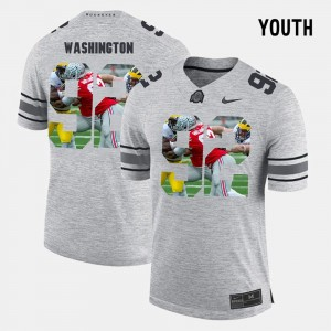 OSU Buckeyes Pictorial Gridiron Fashion For Kids #9 Pictorital Gridiron Fashion Adolphus Washington College Jersey Gray