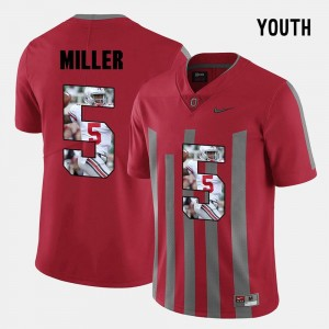 Youth #5 Ohio State Buckeye Braxton Miller College Jersey Pictorial Fashion Red