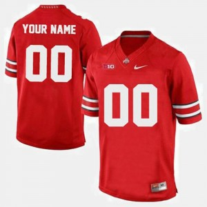 Men's College Customized Jerseys Ohio State #00 Football Red
