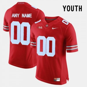 Red #00 Ohio State Buckeye Youth(Kids) Limited Football College Customized Jerseys