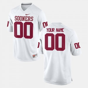 Football College Customized Jerseys For Men White #00 Oklahoma Sooners