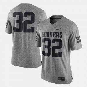 Gridiron Gray Limited Men's Gridiron Limited #32 College Jersey Gray Oklahoma Sooners