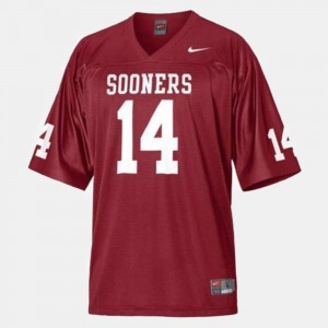 #14 Red For Men's Sam Bradford College Jersey Football OU Sooners