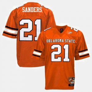 Oklahoma State Orange For Men Football Barry Sanders College Jersey #21